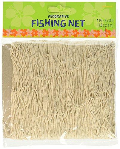 Weißes Fischer-Netz zur Dekoration oder zum Auffangen von Luftballons, 1,83x2,44
