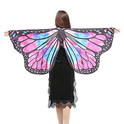 VJGOAL Vlindervleugels voor dames, zacht weefsel, met armband, carnaval, cosplay kostuum, extra carnaval