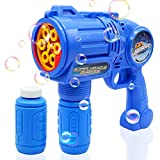 Ultimate Bubble Gun Bubble Blaster – Blue Crefun SB9312 Light Up Bubble Blower Safe Durable Simple Handheld Bubble Machine Bubble Toys for Kids Party Favor Birthday Wedding Including 2 Bubble Solution