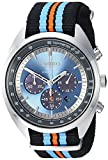 Seiko Men's RECRAFT Series Stainless Steel Japanese-Quartz Watch with Nylon Strap, Black, 21.65