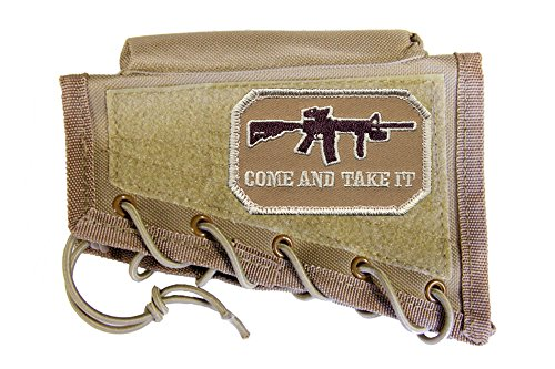 M1SURPLUS Tan Cheek Rest + Come and TAKE IT Morale Patch fits Remington 700 770 783 798 597 Model Seven 7 Savage Rascal AXIS A17 A22 10/110 11/111 22 220 64 93 Mark I II Rifles