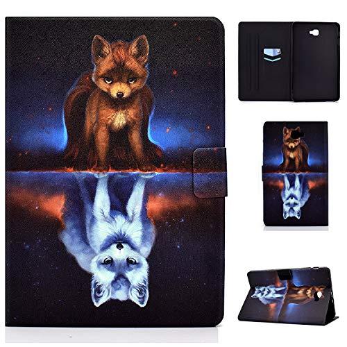 Auslbin Funda para Samsung Galaxy Tab A 10.1' T580/T585,Ultra Slim PU Cuero Funda Flip Casos con Función de Soporte y Auto Sleep/Wake Up,Fox