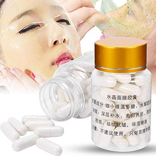 Whitening Collagen Capsule,50pcs Collagen Powder Capsules Beauty Salon Home DIY Crystal Face Mask Anti Aging
