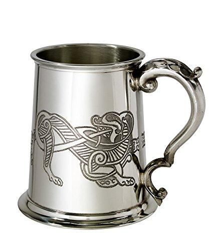 Wentworth Pewter Celtic Lion 1 Pint Pewter Tankard
