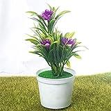 Künstliche Pflanzen Bonsai Kleiner Baum Topfpflanzen Bonsai Lotus Blumen Fake Flowers Topf Ornamente Home Decoration Gartendeko (Color : Purple)
