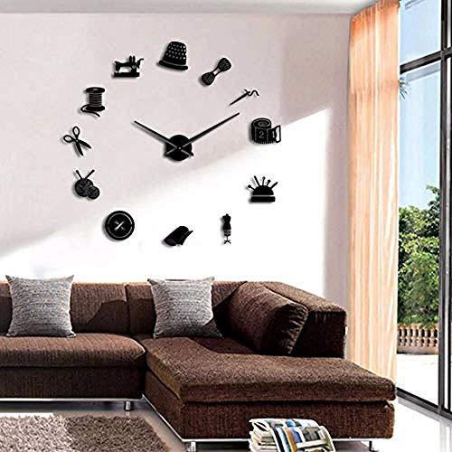 BBNNN DIY DIY Reloj de Pared Grande para Sala de Estar Vintage...