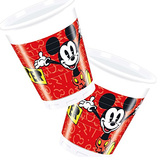 Disney PR89207 Lot de 8 tasses Mickey Mouse