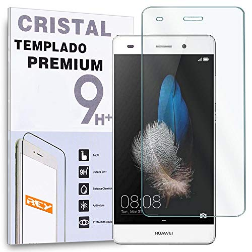 REY Protector de Pantalla para Huawei P8 Lite Cristal Vidrio Templado Premium