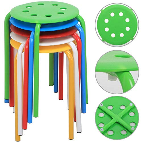 Go2buy Color Plastic Stackable Stools