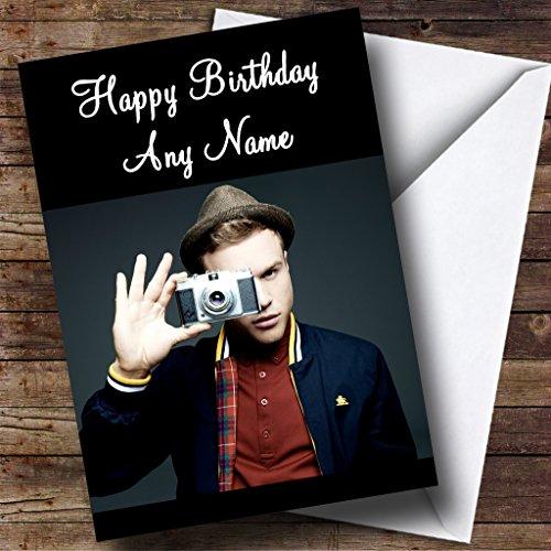 Olly Murs met camera gepersonaliseerde verjaardagskaart