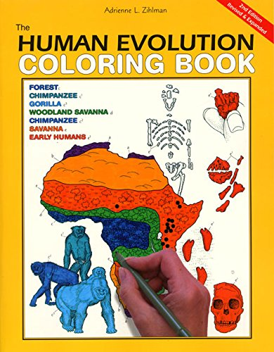 The Human Evolution Coloring Book