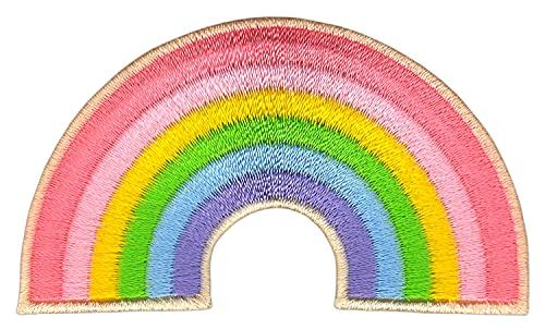 Parche termoadhesivo, color rosa, 7,2 x 4,2 cm
