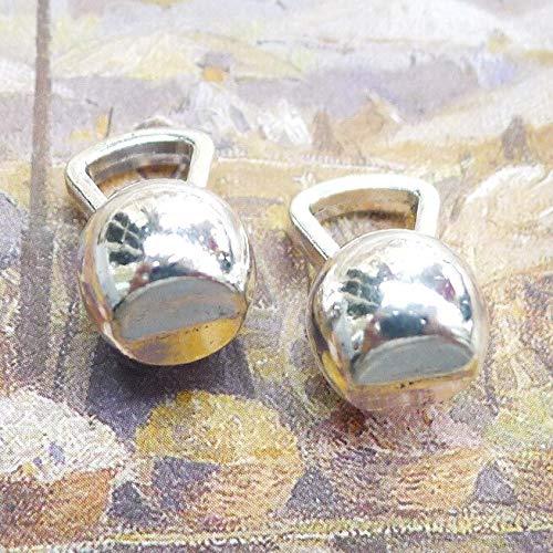 3 pezzi/lotto 18mm * 7mm placcato argento antico ciondolo con ciondolo campana bollitore ciondolo artigianale fatto a mano per creazione di gioielli