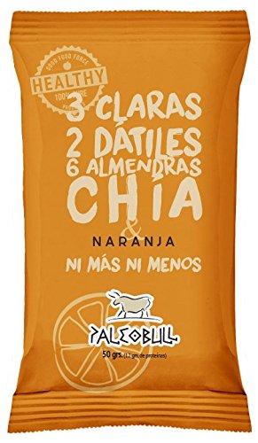 Barrita Energética Paleo 100% natural - Alta en proteínas - Almendras, Naranja y Chía (50g)