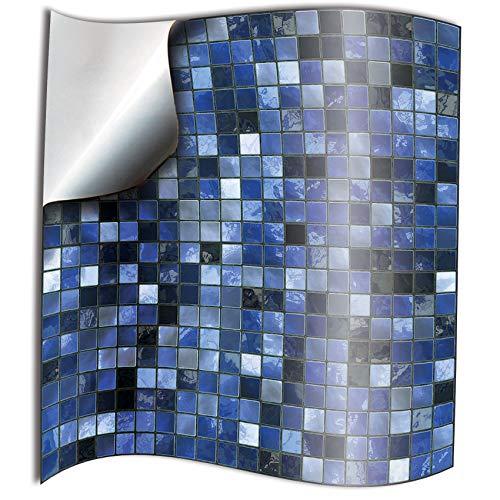 24 Azul PEGATINAS lisas para pegar sobre azulejos cuadrados de 15cm en cocina baños Directamente de TILE STYLE DECALS sin intermediarios resistentes al agua y aceite