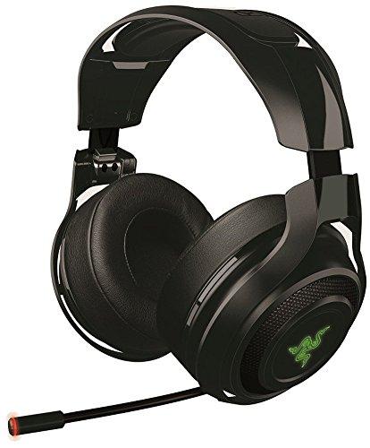 Razer Mano'war Gaming Headset (Over-Ear sans fil 7.1 Surround Sound, RVB s'illumine pour PC, Mac et PS4) (certifié et reconditionné)