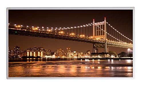 Bild Infrarotheizung (130W/300W/450W/600W/800W/1000W) mit 5 Jahren Garantie (600, New York Brooklyn Bridge bei Nacht)