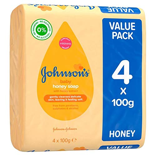 Bébé Savon De Johnson Avec Du Miel 4 X 100G - Paquet de 2