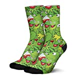 kermit the frog socks women Christmas Gift for women Casual Cotton frog Anime socks 6-13