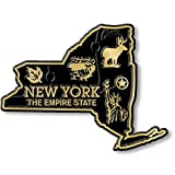 New York Small State Magnet by Classic Magnets, 2.8' x 2.1', Collectible Souvenirs Made in The USA