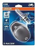 Osram 64193XR-02B X- Racer H4, Lámpara Halógena para Faro de Motos, 12V, 60/55W, Casquillo P43T, Embalaje Blister Doble