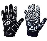 Seibertron Pro 3.0 12 Constelaciones Elite Ultra-Stick Sports Receiver Glove American Football Gloves Youth and Kids/Guantes de fútbol Americano para Juventud y niños Black XS