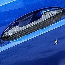 Sport Style Carbon Fiber Print Door Handle Cover Trim for Honda Fit Jazz Hatchback 2014-2019 (Carbon Fiber)