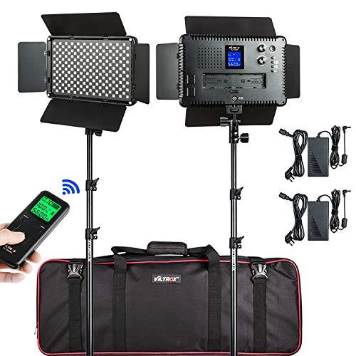 (2 Pack) VILTROX 45W/4700LM Video LED Light 3300K-5600K Lamp CRI 95+ Light Kit for Portrait Wedding News Interview Children Macro Still Life Photography