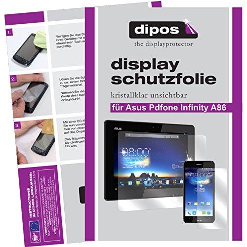 dipos I 6x Schutzfolie klar kompatibel mit Asus Padfone Infinity A86 (Tablet & Smartphone) Folie Displayschutzfolie (3x Vorder- & 3x Rückseite)