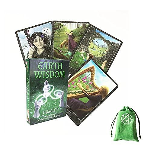 Tarjetas De Oracle Wisdom Earth con Bolsa De Terciopelo,Earth Wisdom Oracle Cards