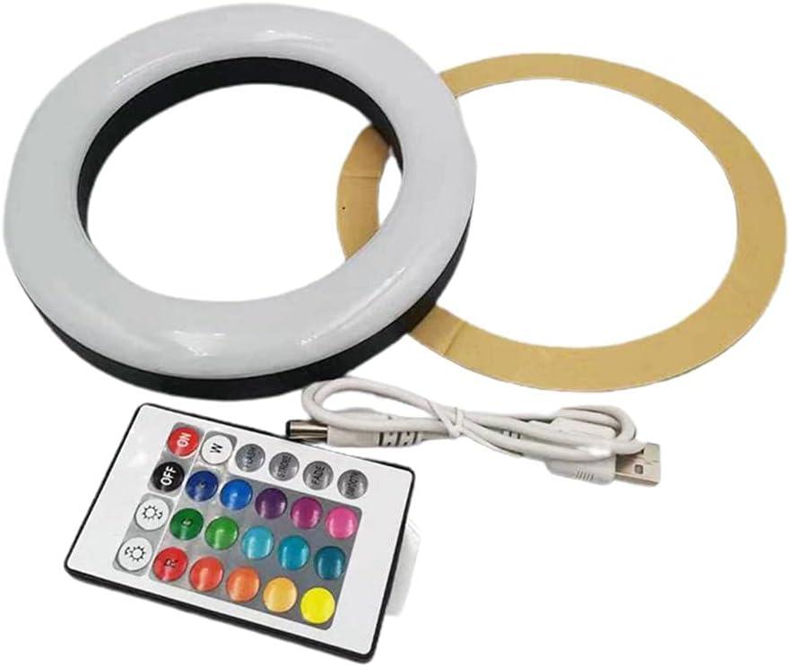 Edinber Juego de luces de cachimba, lámpara de anillo de shisha portátil con control remoto, panel de lámpara LED para dormitorio, sala de estar, regalo para hombres, mujeres y adultos