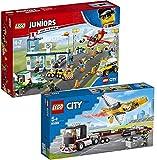 BRICKCOMPLETE Lego - Juego de 2 aeropuerto (10764 y 60289)