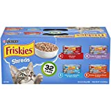 Friskies Wet Cat Food Variety Pack, Savory Shreds, (32) 5.5 Oz Cans