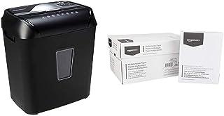 AmazonBasics 12-Sheet Cross-Cut Paper and Credit Card Home Office Shredder & 92 Bright Multipurpose Copy Paper - 8.5 x 11 ...