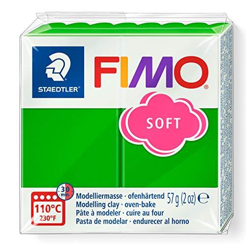 STAEDTLER 8020-53 - Fimo Soft Normalblock, Modelliermasse, 57 g, tropischgrün