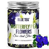 BLUE TEA - Butterfly Pea Flower Tea - Caffeine Free - For Iced Teas, Coolers, Cocktails, Mocktails , Horeca ( 50 Grams - 150 cups or 150 drinks)