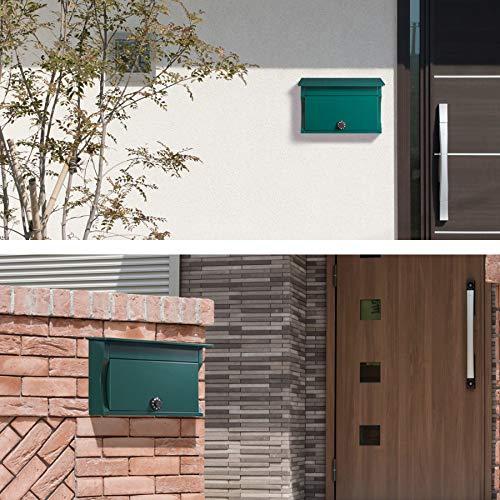 カバポストダイヤル郵便ポスト毎日の鍵が面倒な方にオススメA4対応壁掛けダイヤル式