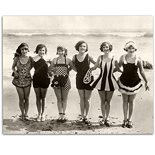 1920s Swimsuit Beach Beauties - 11x14 Unframed Art Print - Makes a Great Vintage Décor for Lake or Beach House Under $15