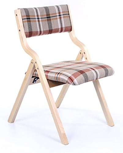 LYXPUZI Accueil Chaise Dossier Chaise de Bureau Chaise à Manger Chaise Pliante en Bois Adulte Nordique