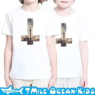 7MILE OCEAN 半袖 プリント キッズ ガールズ 子供服 男の子 女の子 ジュニア 海 灯台 グラッフィック 90 100 110 120 130 140 150 160 ペアルック 120 WHITE gsvmkids0146