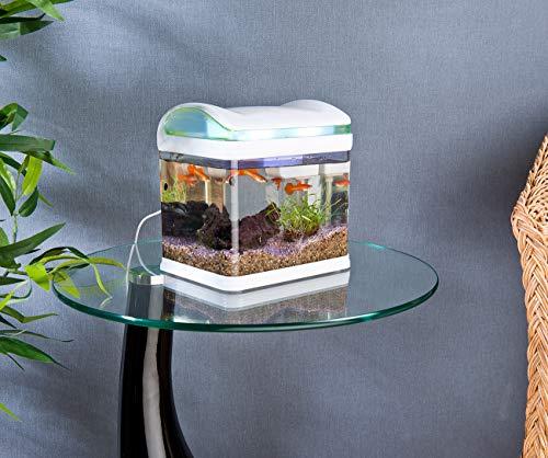 Sweetypet Aquarium: Transport-Fischbecken mit Filter, LED-Beleuchtung und USB, 3,3 Liter (Aquarium-Set) - 2