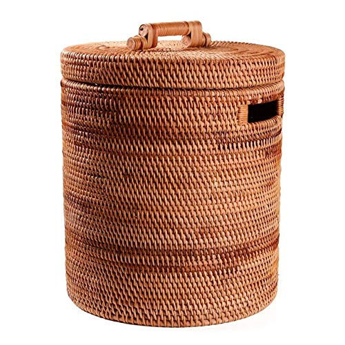 Wasmand LKU Rotan wasmand handgemaakte vuile kleding opbergspeelgoed opbergtas kinder wasmand opbergtas, 45x35cm