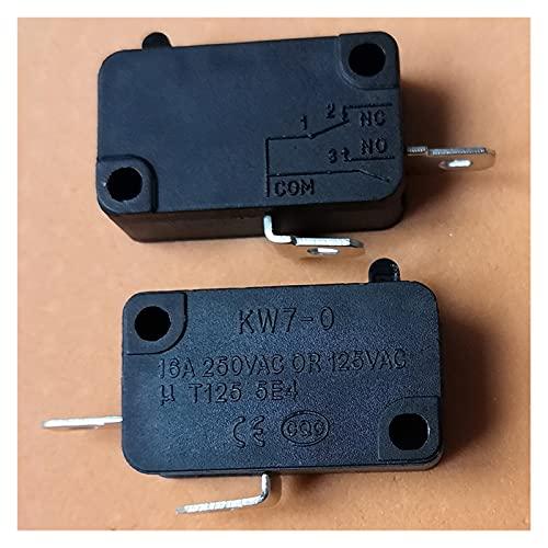 JSJJAWS Micro Interruptor KW7-0 Microwitch Micro Interruptores para Horno de microondas Máquinas de Juego Cocinas eléctricas (Color : 2Pins)