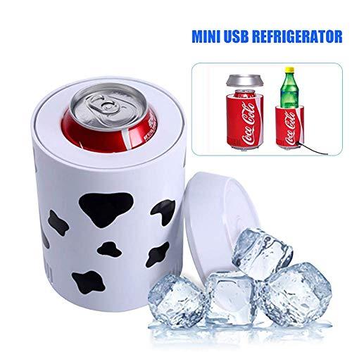 ZL Tragbarer Mini-USB-Kühlschrank, Getränkedosen, Büro, Auto, Kühlschrank