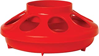 Miller Manufacturing 806RED 1-Quart Baby Chick Feeder, Red (Discontinued by Manufacturer)