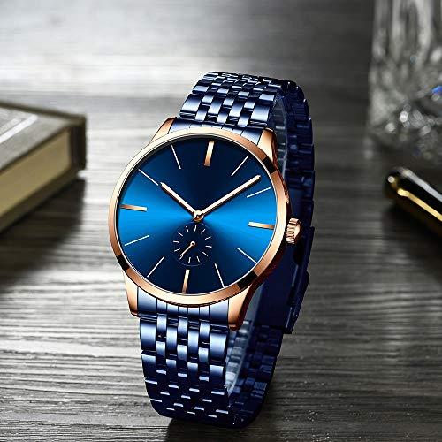 Voigoo Mode-Mann-Uhr Silber-Schwarz-Edelstahl-Quarz-Armbanduhr der beiläufige Sport-wasserdichte Uhr Relogio Masculino