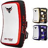 Mytra Fusion Thai pad Kick Shield MMA Kickboxing Muay Thai Training pad arm pad Strike Shield (White Red)