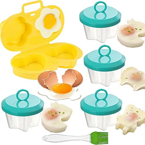 Escalfar Huevos Microondas, Senteen 5pcs Escalfador De Huevos En Agua Antiadherente Huevos Escalfados Molde Cocinador De Huevos Portátil Cocedor Huevos Recipiente Cocer Huevos Durable Egg Cooker