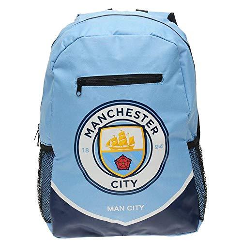 Mens Football Club Team Colours Backpack Rucksack Gift Bag (N, Man City)