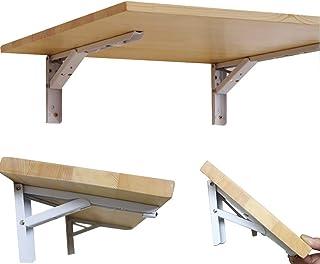 JFFFFWI Table de Salle à Manger Murale en Bois Soild Simple Moderne avec Table à Feuilles Mobiles, Couleur Bois Naturel, M...